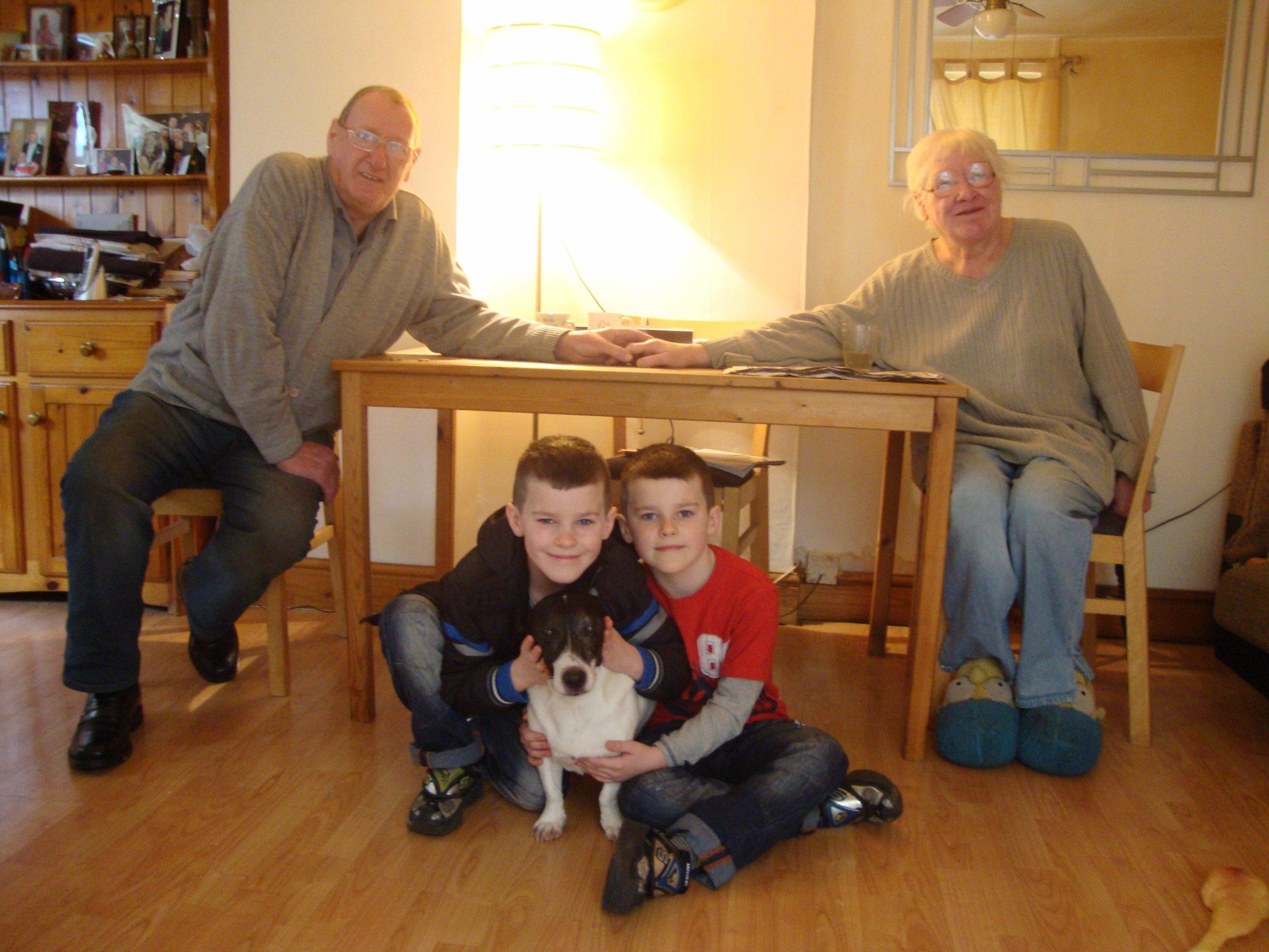 Mervyn, Dan, Zak and Carole