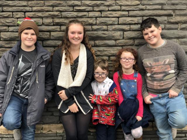 Dan, Eva, Fraser, Violet and Zak
