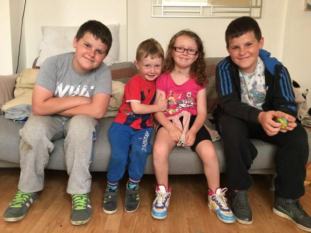 Zak, Fraser, Violet and Dan