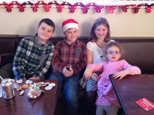Zak, Dan, Eva and Violet