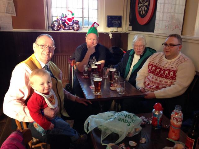 Mervyn, Fraser, Jamie, Carole and Jon