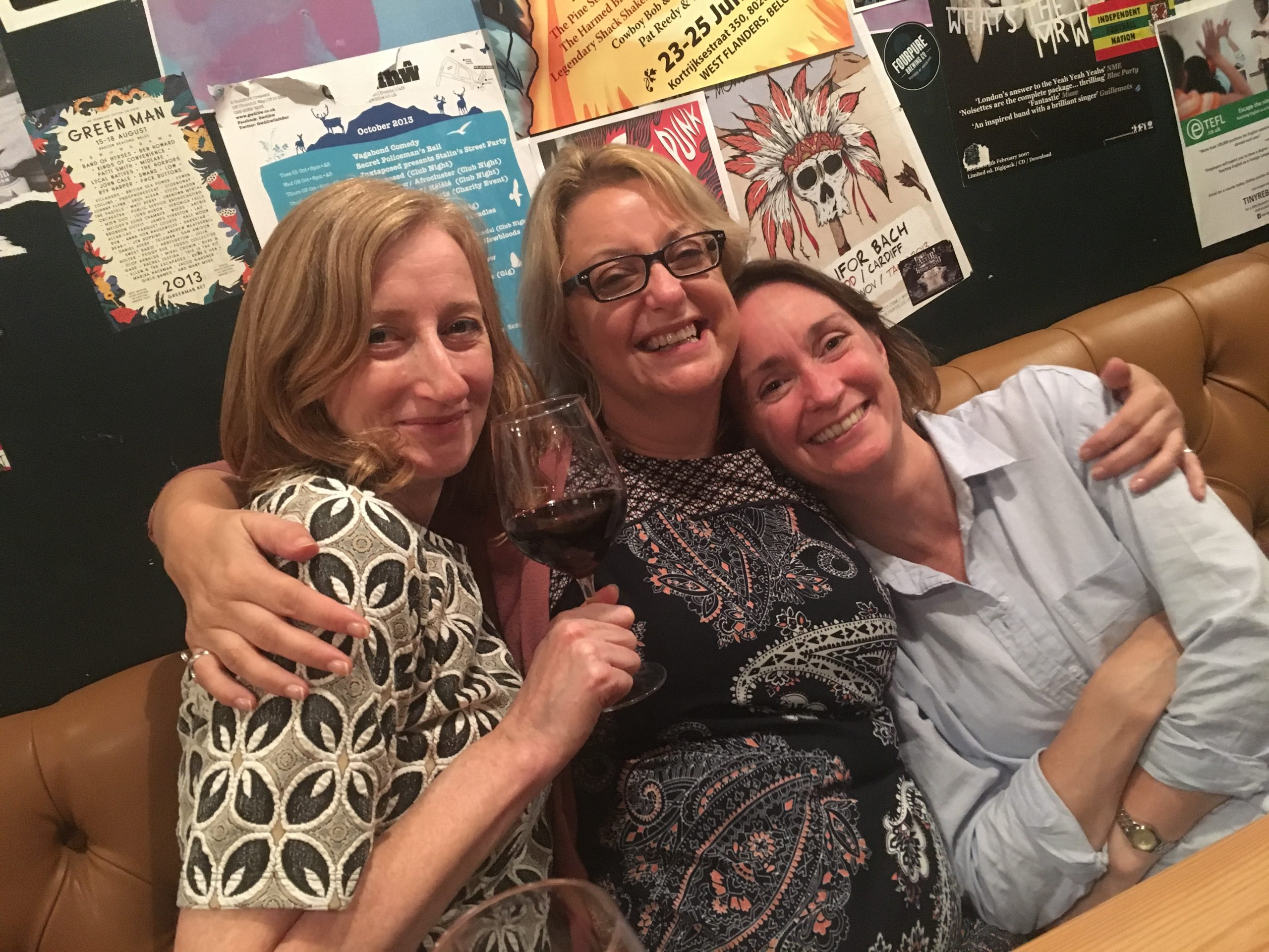 Clare, Nat and Ruth
