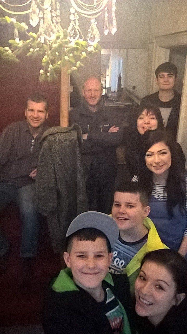 Jon, Dan, Scott, Zak, Phoebe, Liz, Eve, Elliot